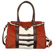 Bailey Hemp Satchel in Burnt Orange