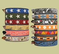 EarthDog Adjustable Decorative Hemp Collars