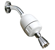 Rainshow'r CQ-1000 Dechlorinating Shower Filter with Chrome Fixed-Action Shower Head
