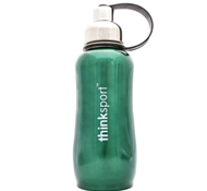 Stainless Steel Insulated Sports Bottle - 25 oz. - Metallic Green