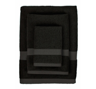 Bamboo Towel Set in Black (1 Wash Cloth, 1 Hand Towel, and 1 Bath Towel)
