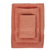 Bamboo Towel Set in Red Tangerine (1 Wash Cloth, 1 Hand Towel, 1 Bath Towel)