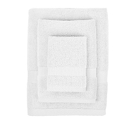 Bamboo Towel Set in Pure White (1 Wash Cloth, 1 Hand Towel, and 1 Bath Towel)