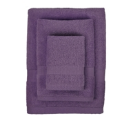 Bamboo Towel Set in Purple (1 Wash Cloth, 1 Hand Towel, and 1 Bath Towel)