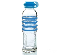 Recycled Glass Drink Bottles in Blue