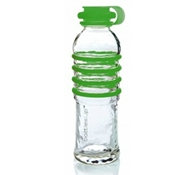Recycled Glass Drink Bottles in Green