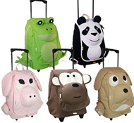 EcoZoo Cotton Kid's Rolling Backpacks ($57)