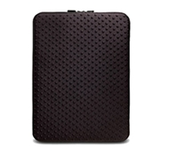 "Neogreene Eco-Friendly Tactile Laptop Sleeve in Saola - 15"" Size in Black"