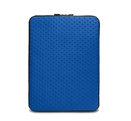 "Neogreene Eco-Friendly Tactile Laptop Sleeve in Saola - Mac 13"" Size in Tahoe Blue"