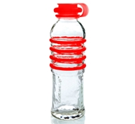 Recycled Glass Drink Bottles in Red