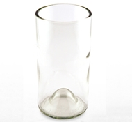 Recycled Wine Bottle Tall Drinking Glasses in Clear - 16 oz. (Set of 4)