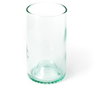 Recycled Wine Bottle Tall Drinking Glasses in Aqua - 16 oz. (Set of 4)