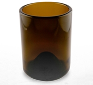 Recycled Wine Bottle Short Drinking Glasses in Amber - 12 oz. (Case of 48)