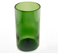 Recycled Wine Bottle Tall Drinking Glasses in Kelly Green - 16 oz. (Case of 32)