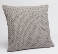 Coyuchi Diamond Crochet Decorative Pillow Cover