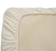 Organic Cotton Fitted Sateen Sheets in Ivory (Crib & Bassinet)