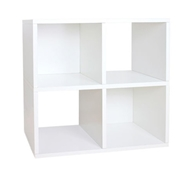 Quad Cubby Organizer in White