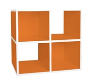 Quad Cubby Organizer in Orange
