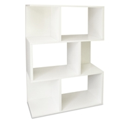Madison Modern Bookcase in White