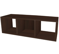 Triple Cubby Storage Bench in Espresso