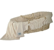 Organic Cotton Velour Bedding Set  (Bedding Only) for Cozy Baby Moses Basket