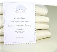 Organic Cotton Ivory Jersey Fitted Sheet for Cradle