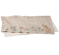 Organic Cotton & Linen Critter Embroidered Receiving Blanket