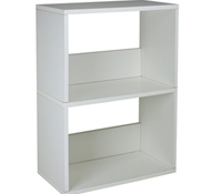 Duplex Bookcase in White