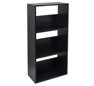 Triplet Bookcase in Black