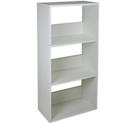 Triplet Bookcase in White