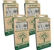 Recycled Newspaper Pencils Classroom Set -#2 School Grade - (Set of 96)
