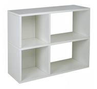 Chelsea Modern Bookshelf in White