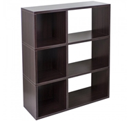 Sutton Modern Bookshelf in Espresso