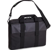 "Recycled PET Laptop Carrying Bag in Addax - 15"" in Black"
