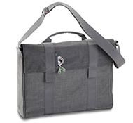 "Recycled PET Laptop Carrying Bag in Bonobo - 15"" in Charcoal"
