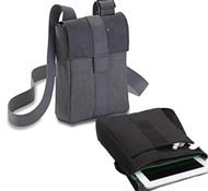 Recycled PET Tablet Shoulder Bags in Vaquita ($49.95 - $59.95)