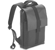 "Recycled PET Laptop Backpack in Gaur - 13"" in Charcoal"