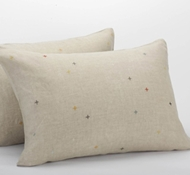 Coyuchi Natural Linen Scattered Embroidered Standard Shams