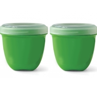 BPA-Free Mini Food Storage Containers in Green (Pack of 2)