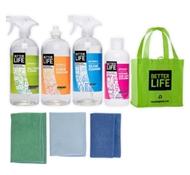 Starter Cleaning Kit with Microfiber Cloths