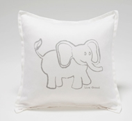 Organic Supima Cotton Elephant Baby Decorative Pillow