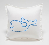 Organic Supima Cotton Whale Baby Decorative Pillow