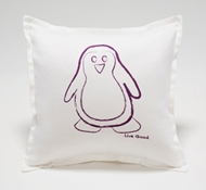 Organic Supima Cotton Penguin Baby Decorative Pillow