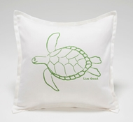 Organic Supima Cotton Turtle Baby Decorative Pillow