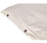 Organic Cotton Sateen Duvet Covers in Ivory