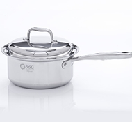 Stainless Steel 3 Quart Saucepan + Cover
