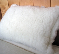Holy Lamb Eco-Wool Fleece Throw Pillow