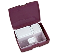 Bento Box-Classic 6 Pc. Set - Raspberry/Blue