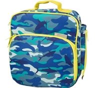 Insulated Lunch Tote with Side Pocket - Shark Camo