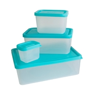 Lunch Box Set of 4 Containers - Turquoise